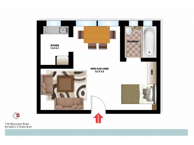 7/66 Bayswater Road, Rushcutters Bay NSW 2011 Floorplan