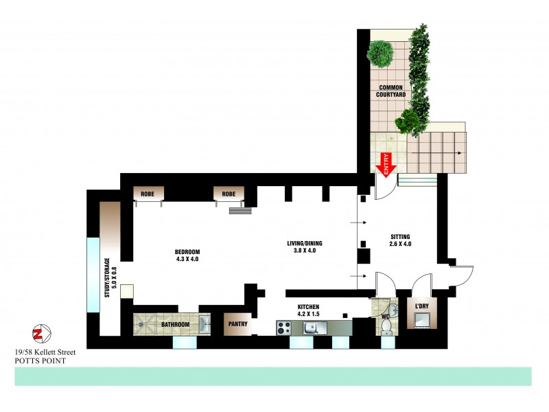 19/58 Kellett Street, Potts Point NSW 2011 Floorplan