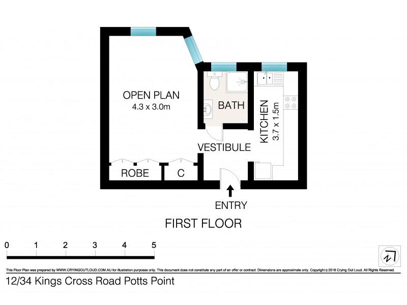 12/34 Kings Cross Road, Potts Point NSW 2011 Floorplan