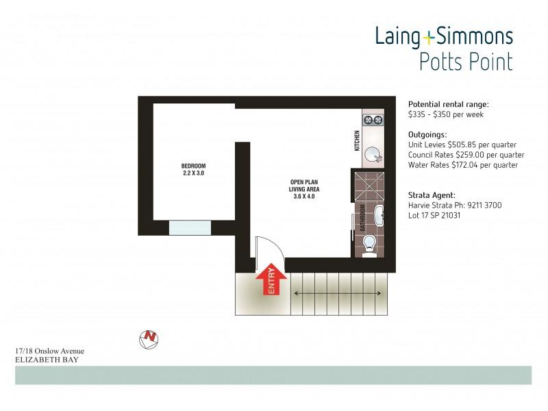 17/18 Onslow Avenue, Elizabeth Bay NSW 2011 Floorplan