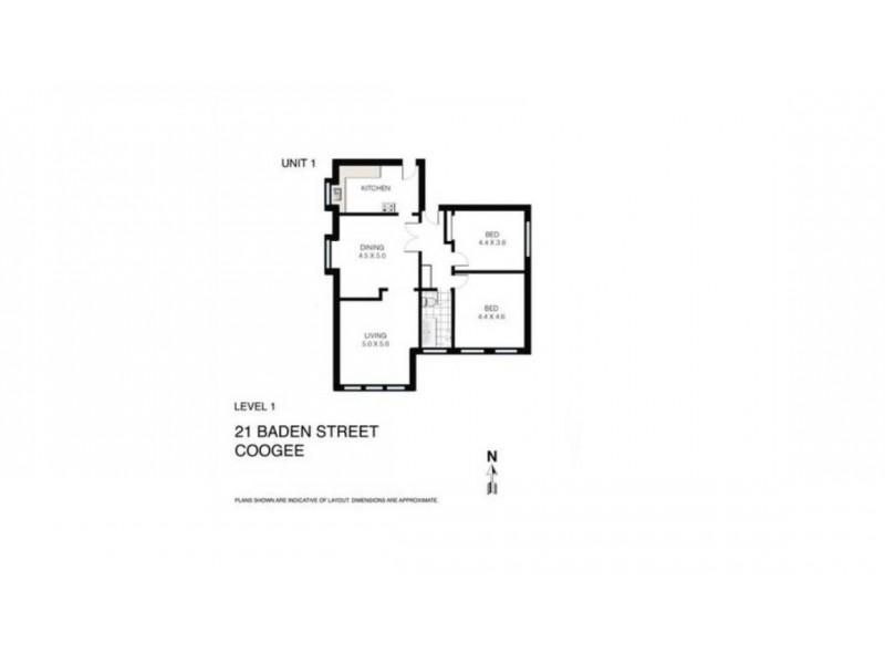 1/21 Baden Street, Coogee NSW 2034 Floorplan