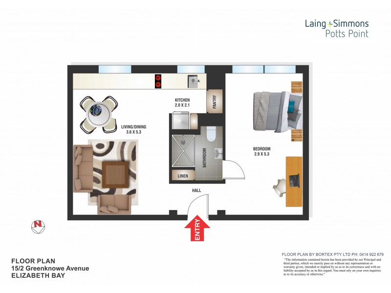 15/2 Greenknowe Avenue, Elizabeth Bay NSW 2011 Floorplan
