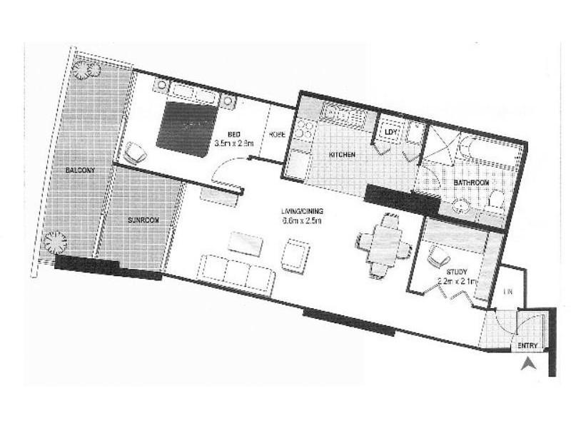 97/361 Kent Street, Sydney NSW 2000 Floorplan