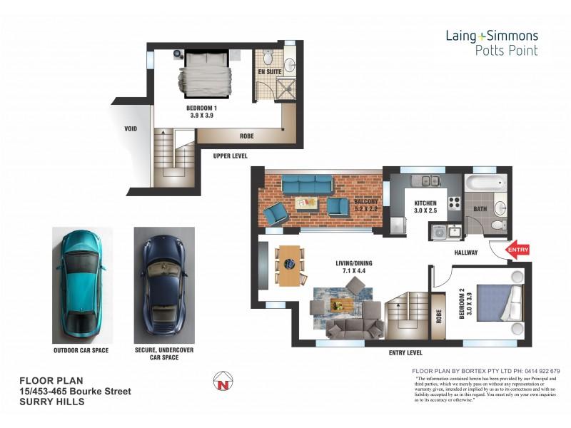 15/453-465 Bourke Street, Surry Hills NSW 2010 Floorplan