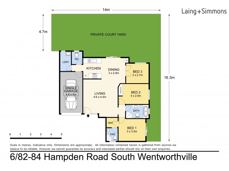 6/82 Hampden Road, South Wentworthville NSW 2145 Floorplan