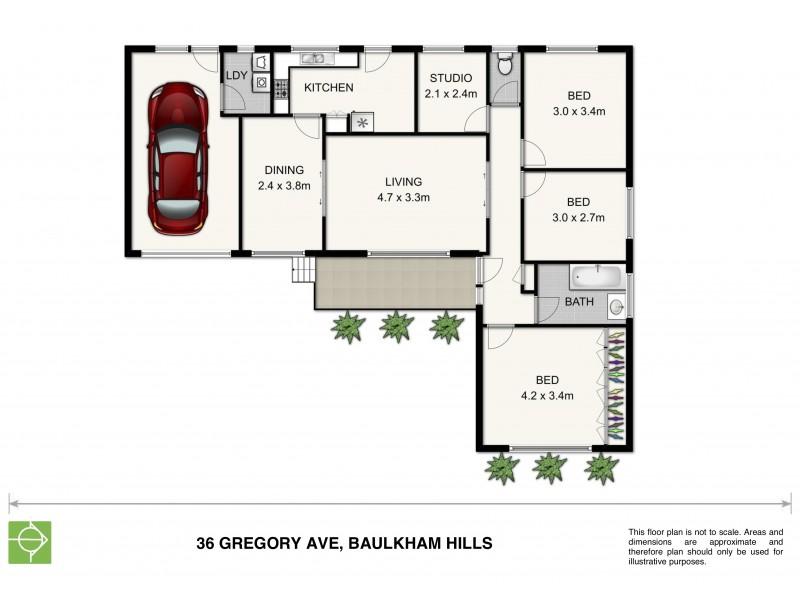 36 Gregory Avenue, Baulkham Hills NSW 2153 Floorplan