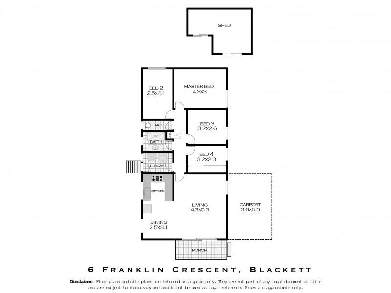 6  Franklin Crescent, Blackett NSW 2770 Floorplan