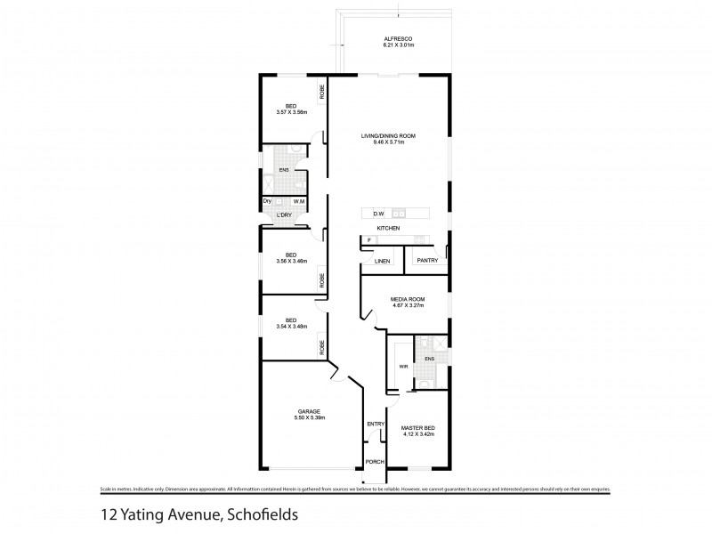 12 Yating Avenue, Schofields NSW 2762 Floorplan