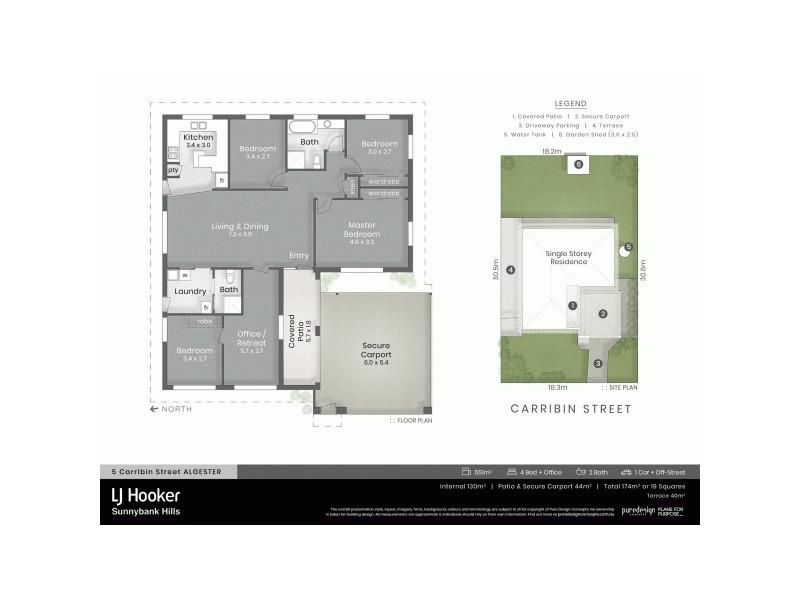 5 Carribin Street, Algester QLD 4115 Floorplan