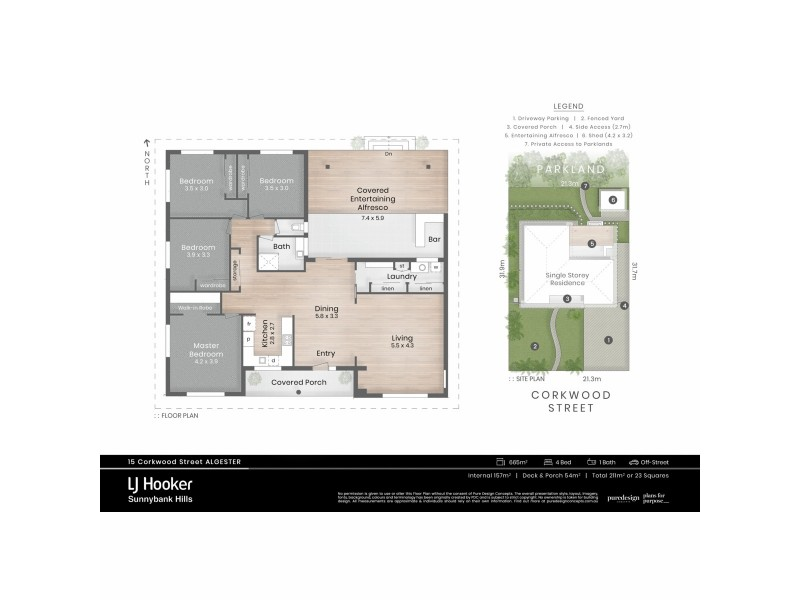 15 Corkwood Street, Algester QLD 4115 Floorplan