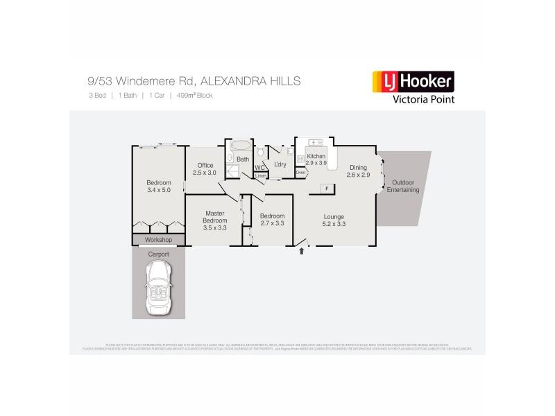 9/53 Windemere Road, Alexandra Hills QLD 4161 Floorplan