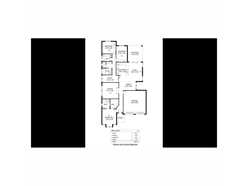 6 Salmon Gum Crescent, Blakeview SA 5114 Floorplan