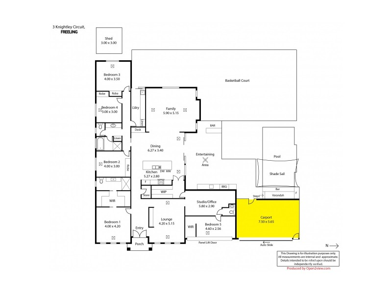3 Knightley Circuit, Freeling SA 5372 Floorplan