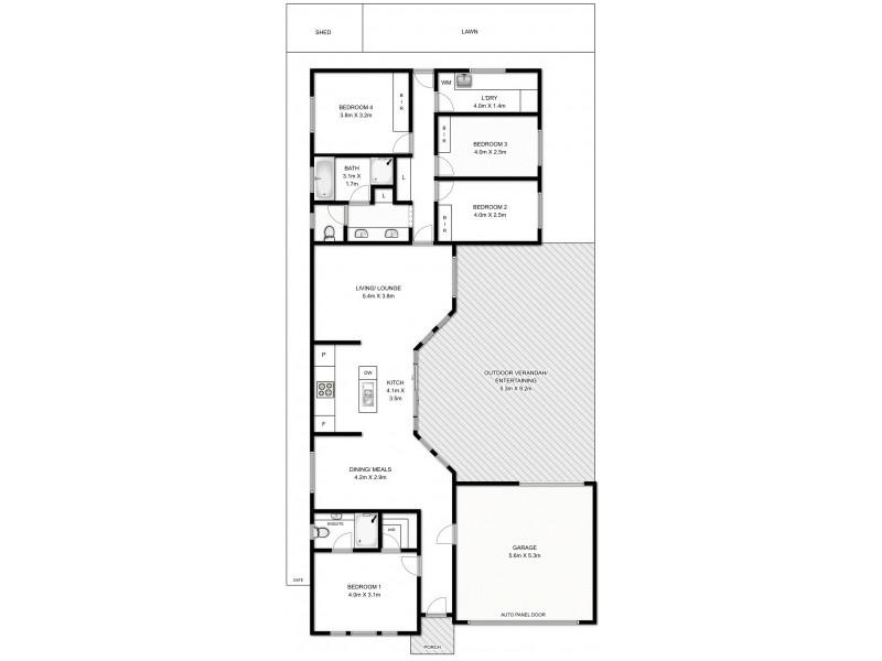 14 Lafitte Way, Andrews Farm SA 5114 Floorplan