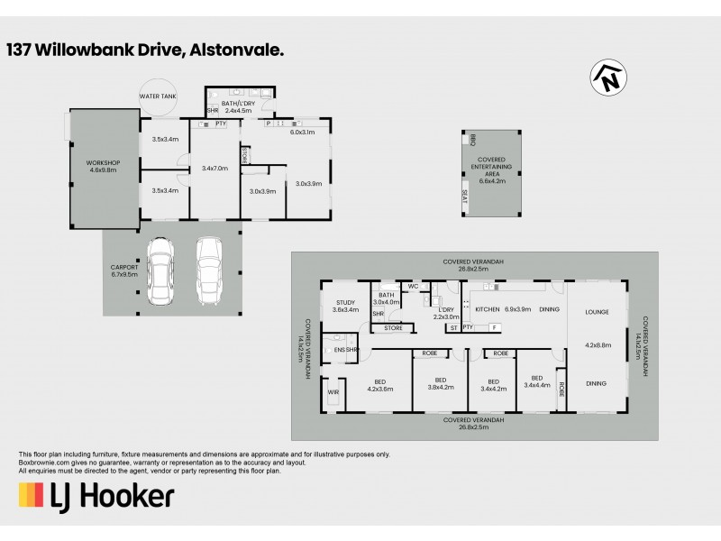 137 Willowbank Drive, Alstonvale NSW 2477 Floorplan