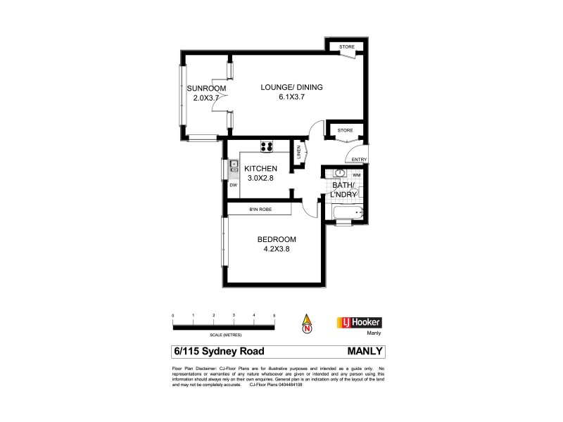 6/115 – 117 Sydney Road, Manly NSW 2095 Floorplan