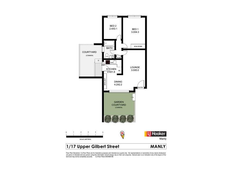 1/17 Upper Gilbert Street, Manly NSW 2095 Floorplan