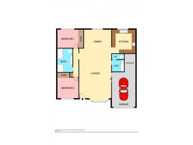 2/204 Warners Bay Rd, Mount Hutton NSW 2290 Floorplan