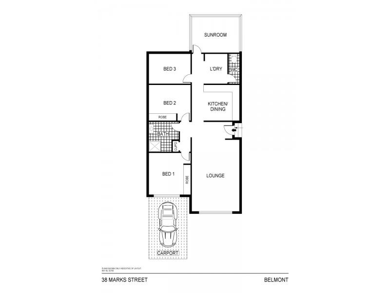 38 Marks Street, Belmont NSW 2280 Floorplan