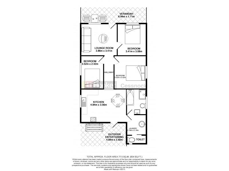 1 Albury Street, Abermain NSW 2326 Floorplan