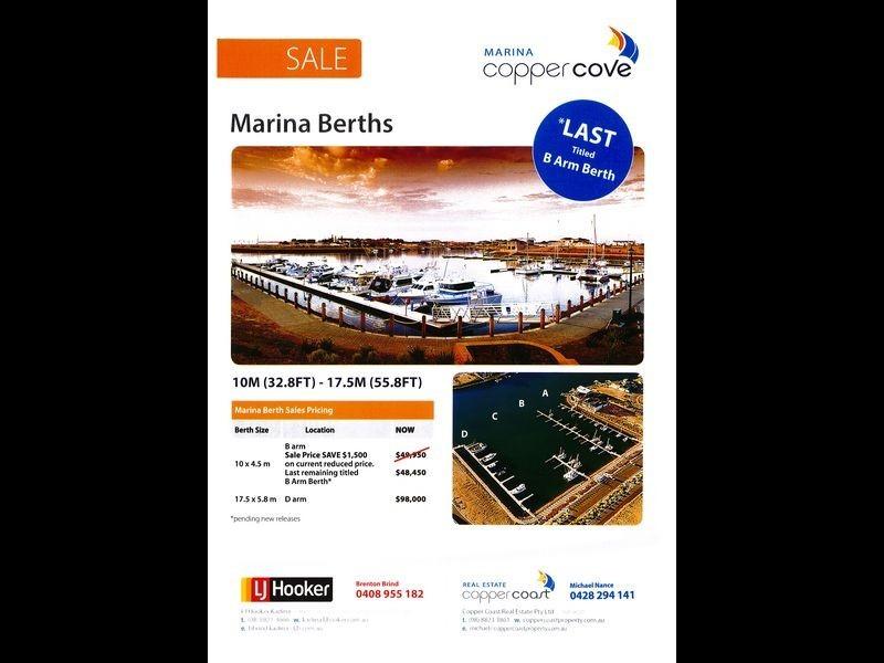 Copper Cove Marina, Wallaroo SA 5556