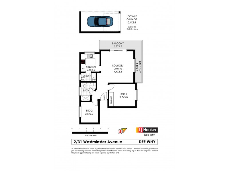 2/31 Westminster Avenue, Dee Why NSW 2099 Floorplan