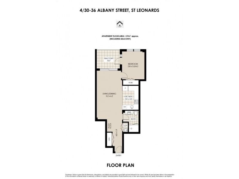 4/30-36 Albany Street, St Leonards NSW 2065 Floorplan