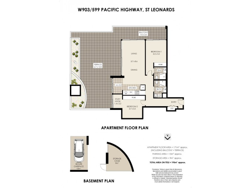 W903/599 Pacific Hwy (cnr Albany St. West Tower), St Leonards NSW 2065 Floorplan