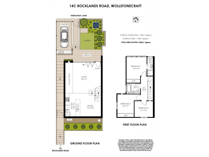 14c Rocklands Road, Wollstonecraft NSW 2065 Floorplan