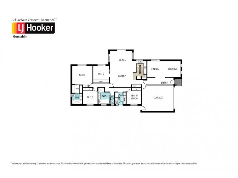 9 Elia Ware Crescent, Bonner ACT 2914 Floorplan