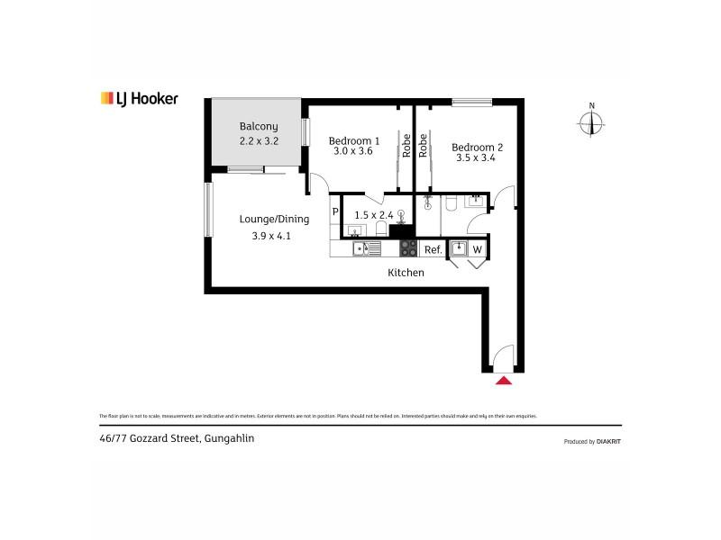 46/77 Gozzard Street, Gungahlin ACT 2912 Floorplan