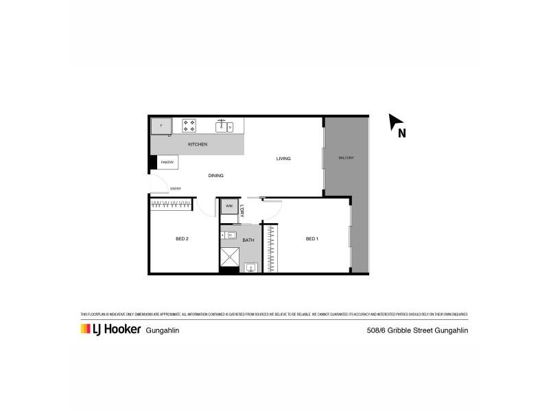 508/6 Gribble Street, Gungahlin ACT 2912 Floorplan