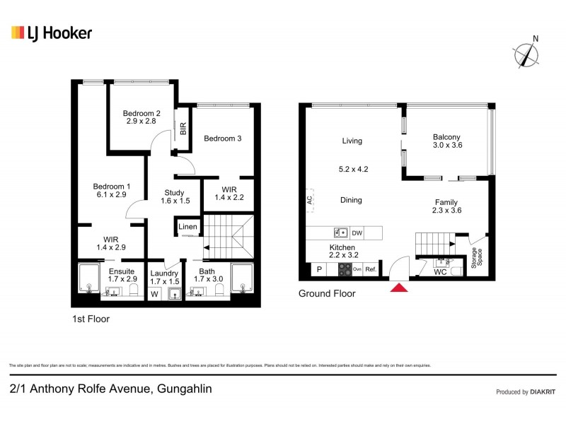 2/1 Anthony Rolfe Avenue, Gungahlin ACT 2912 Floorplan