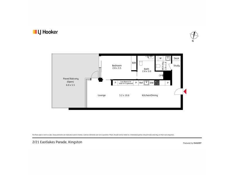 2/21 Eastlake Parade, Kingston ACT 2604 Floorplan