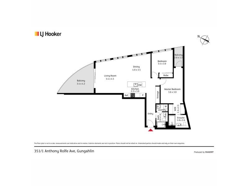 351/1 Anthony Rolfe Avenue, Gungahlin ACT 2912 Floorplan
