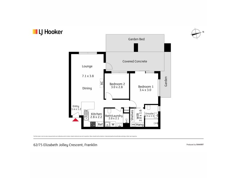 62/75 Elizabeth Jolley Crescent, Franklin ACT 2913 Floorplan