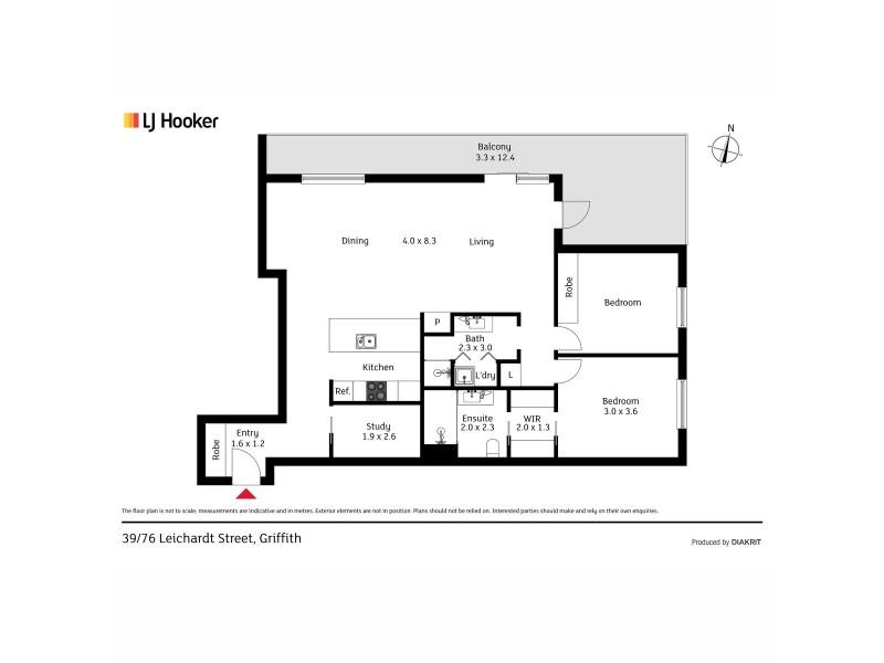 39/76 Leichardt Street, Griffith ACT 2603 Floorplan
