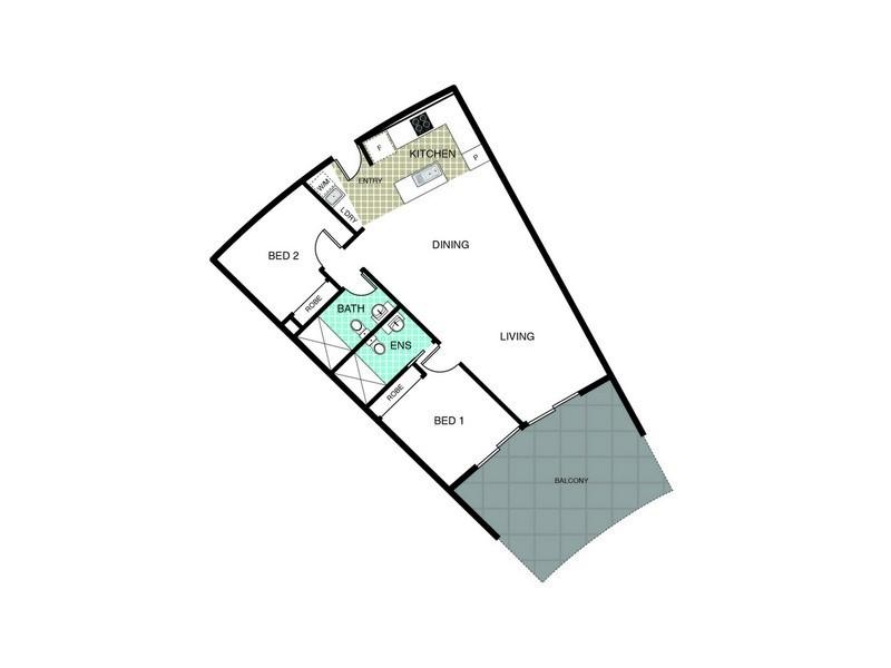 316/240 Bunda Street, City ACT 2601 Floorplan