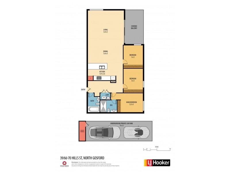 39/66-70 Hills Street, North Gosford NSW 2250 Floorplan