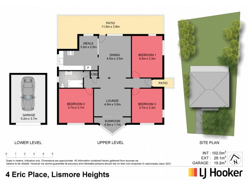 4 Eric Place, Lismore Heights NSW 2480 Floorplan