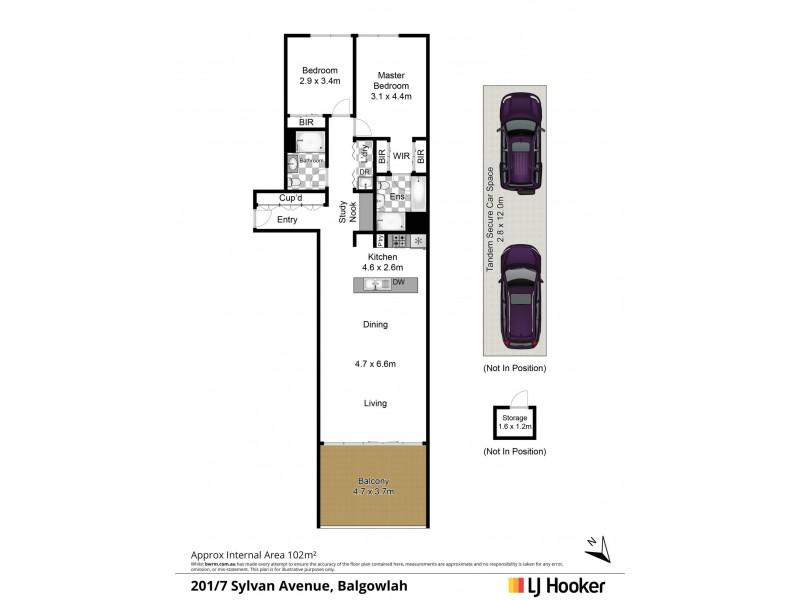 201/7 Sylvan Avenue, Balgowlah NSW 2093 Floorplan