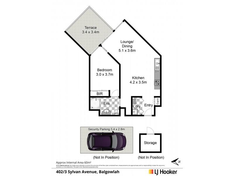 402/3 Sylvan Avenue, Balgowlah NSW 2093 Floorplan