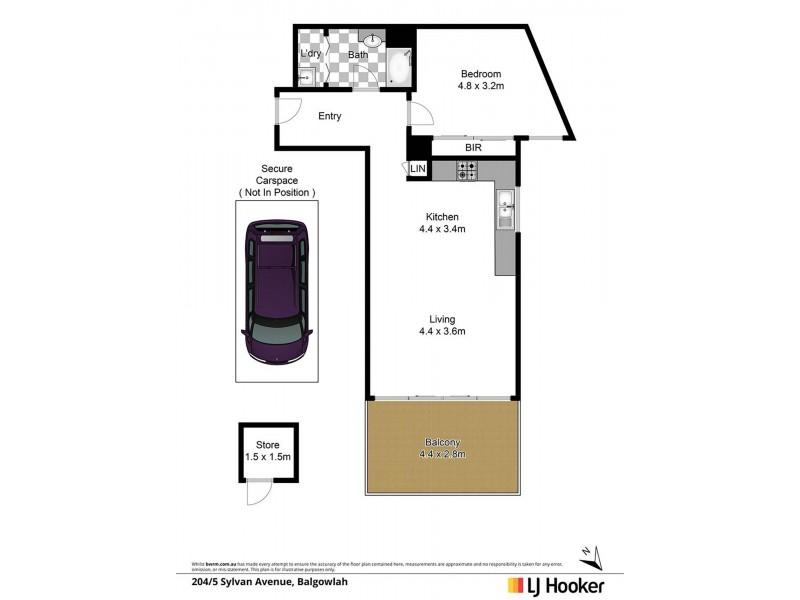 204/5 Sylvan Avenue, Balgowlah NSW 2093 Floorplan