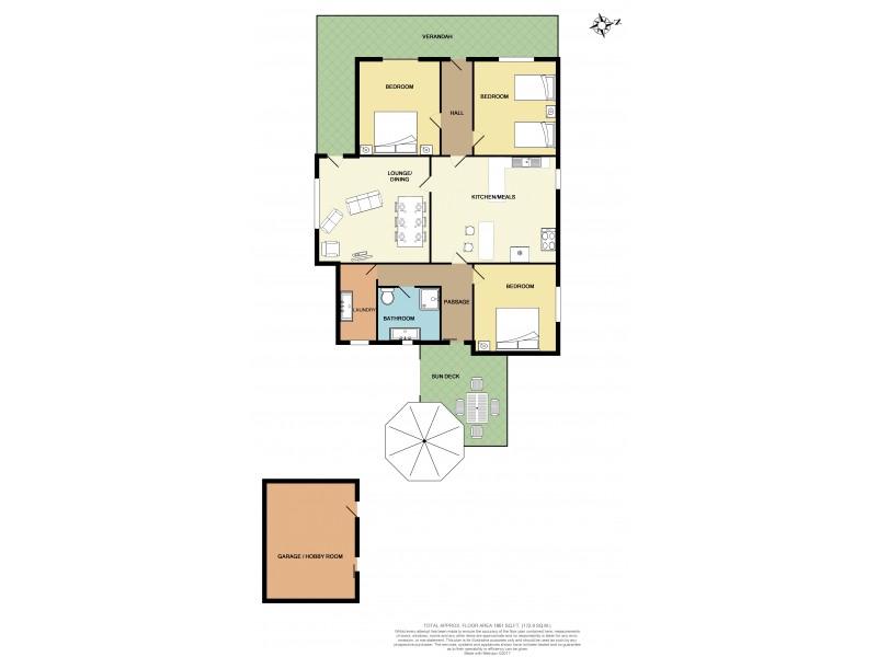 54 Main Street, Minlaton SA 5575 Floorplan