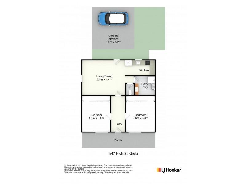 1/47 High Street, Greta NSW 2334 Floorplan
