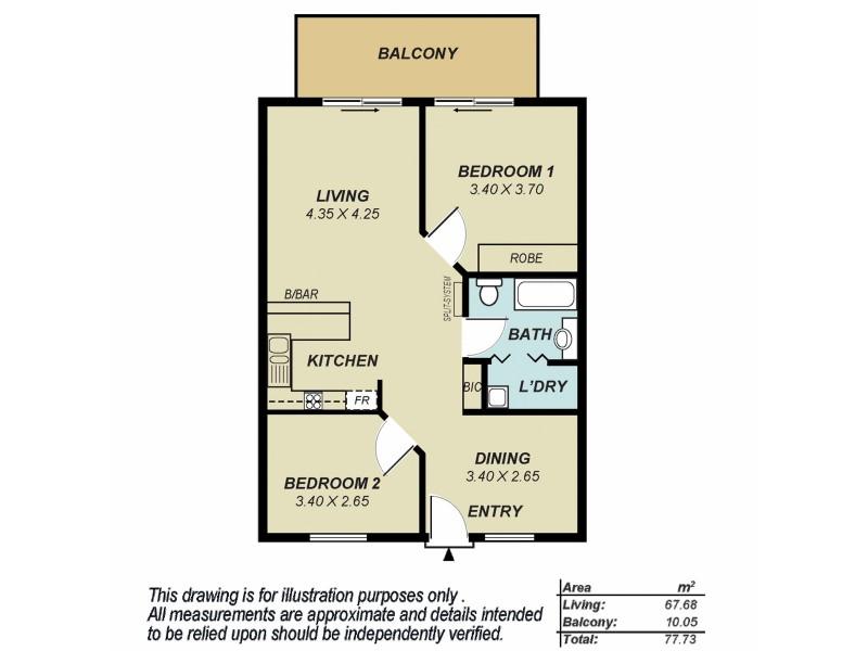 27/81 Carrington Street, Adelaide SA 5000 Floorplan