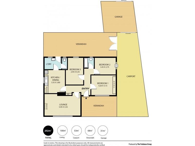196 Woodford Road, Elizabeth North SA 5113 Floorplan