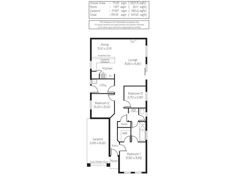 47B Northcote Street, Kilburn SA 5084 Floorplan