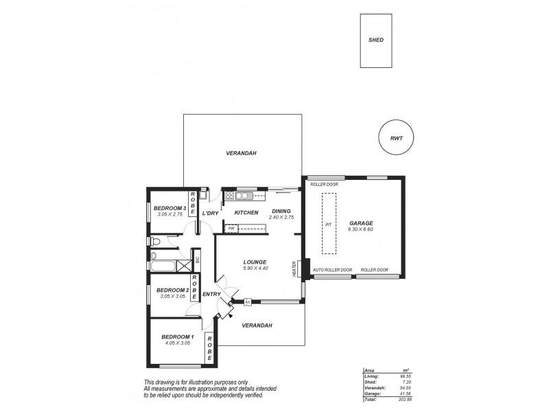 18 Belinda Crescent, Salisbury North SA 5108 Floorplan