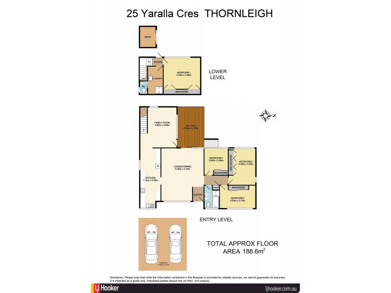 25 Yaralla Crescent, Thornleigh NSW 2120 Floorplan
